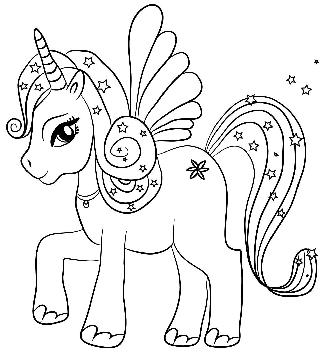 Unicorno 2018 scopri i regali pi belli e originali con - Unicorno alato pagine da colorare ...