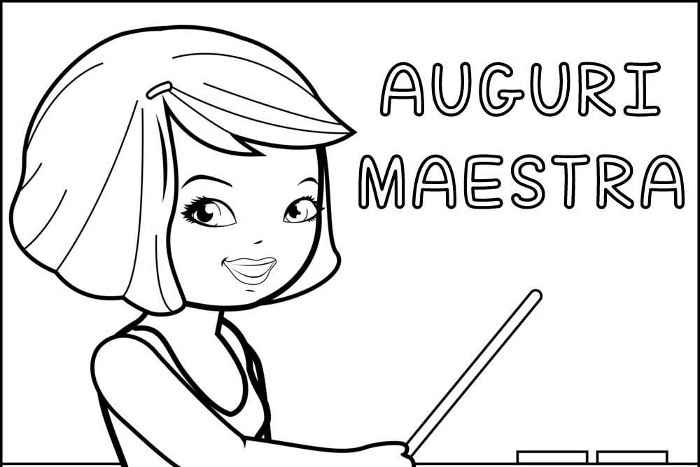 Maestre Da Colorare: Festa Della Maestra E Degli Insegnanti